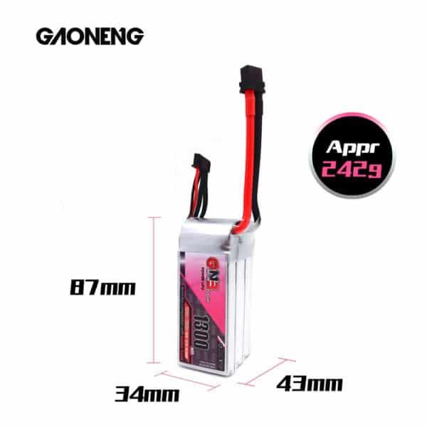 gaoneng gnb lipo battery 1300mah 130c 6s