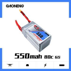 gaoneng gnb lipo battery 550mah 6s 80c
